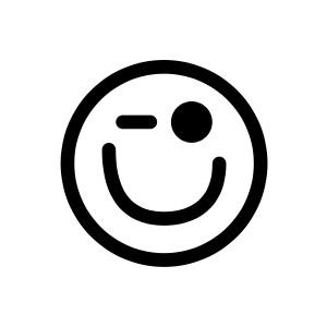 300x300 Winking Smiley Face Clip Art Clipart Panda