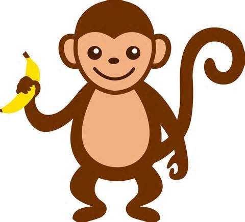 480x436 Baby Monkey Face Clip Art Clipart Panda