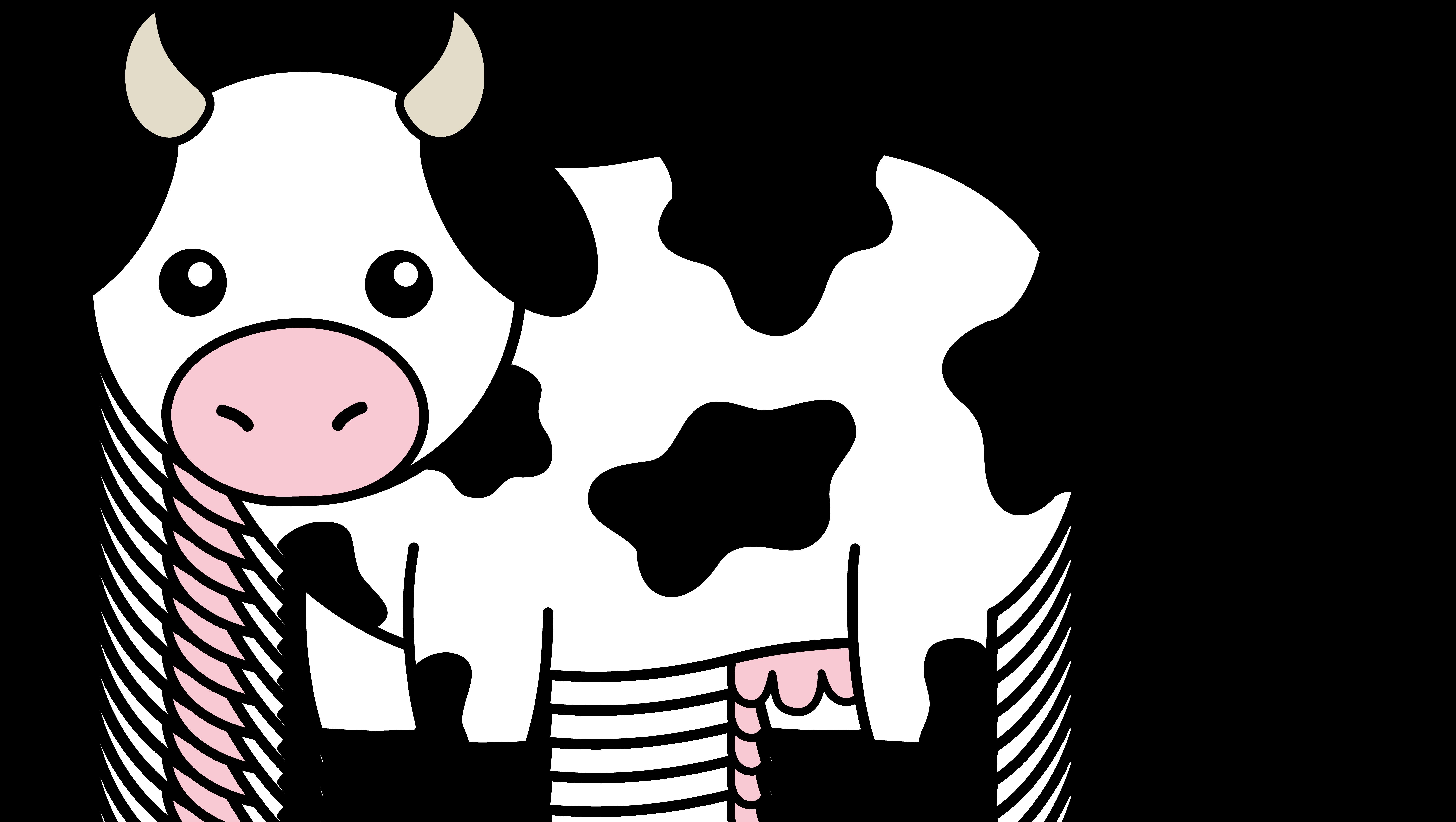 7510x4240 Head clipart black cow