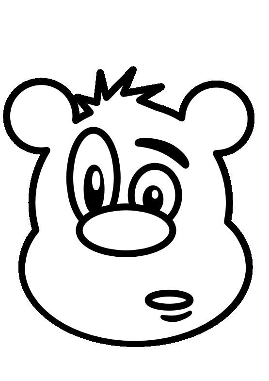 555x785 Bear Face Clip Art