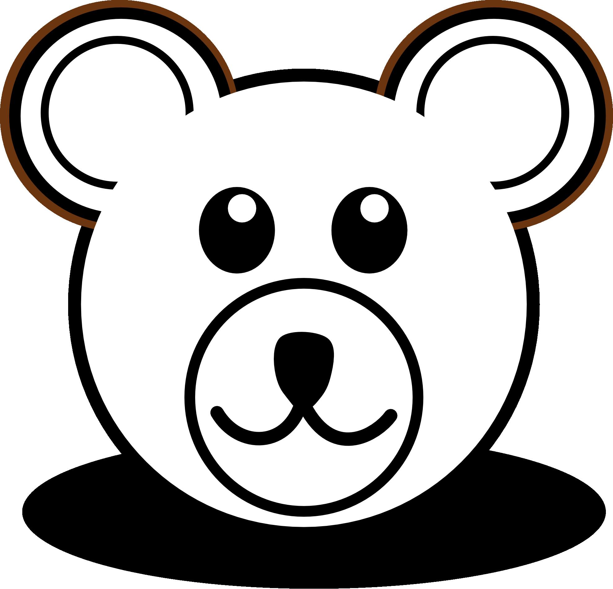 1979x1903 Panda Head Black White Lineart