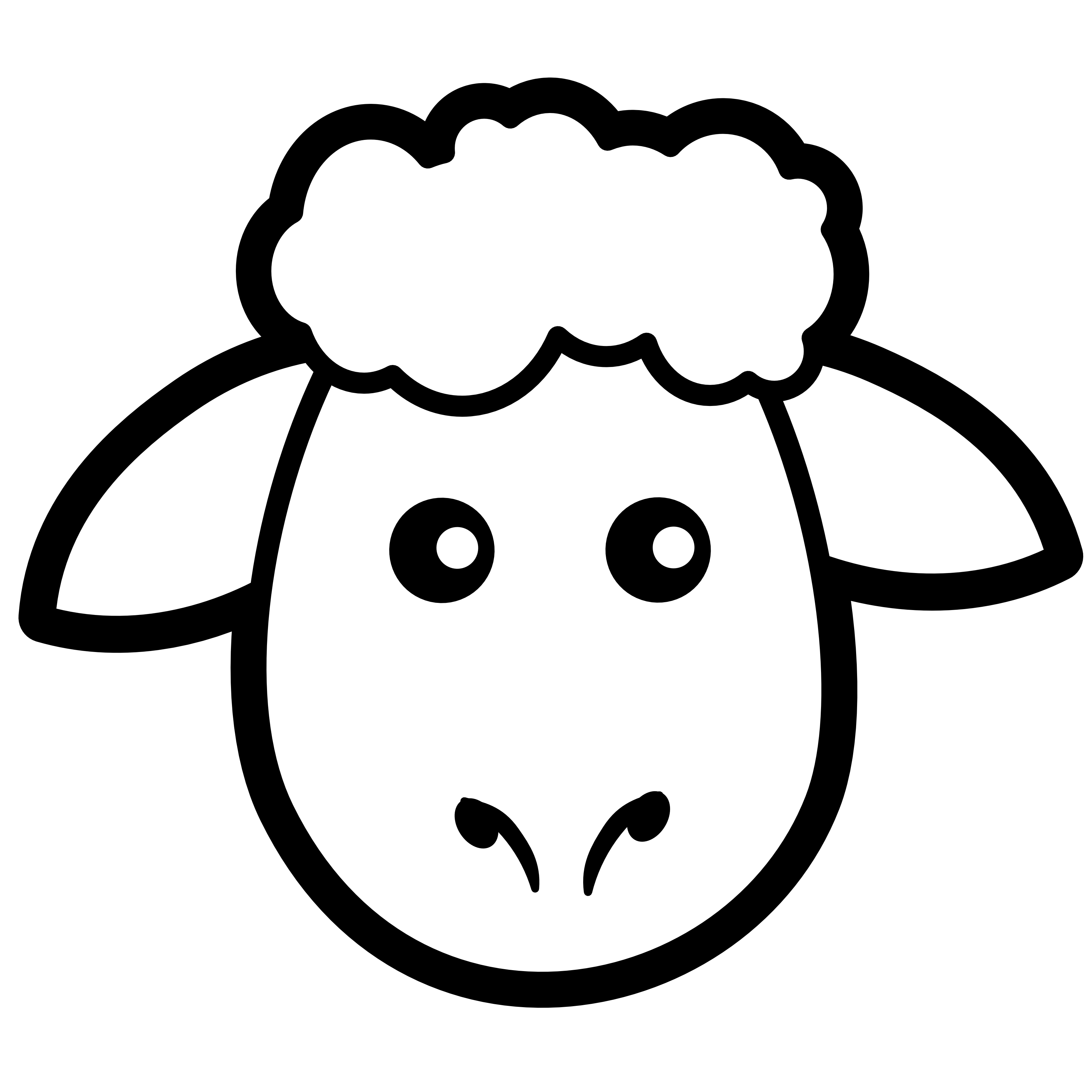 3333x3333 Black And White Sheep Clipart