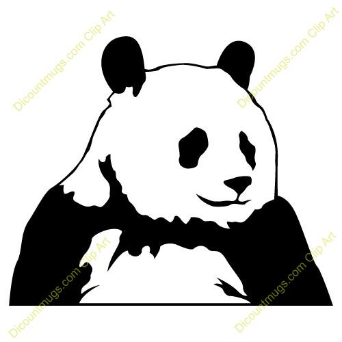 500x500 Panda clipart panda head