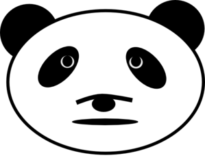 299x234 Sad Panda Bear Clip Art
