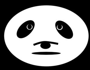299x234 Sad Panda Bear Clip Art