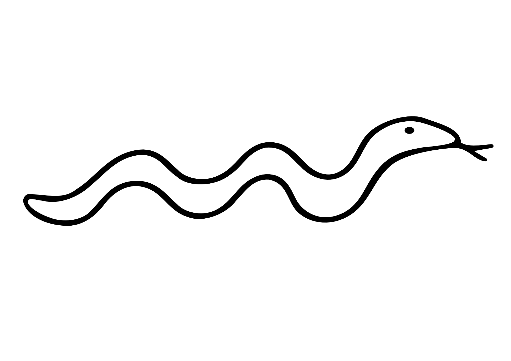 1969x1392 Snake Clipart Black And White