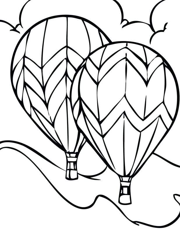 618x800 Coloring Pages Terrific Hot Air Balloon Outline. Hot Air Balloon