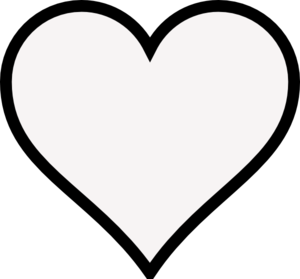 300x279 Heart Outline Clipart Black And White Letters Format