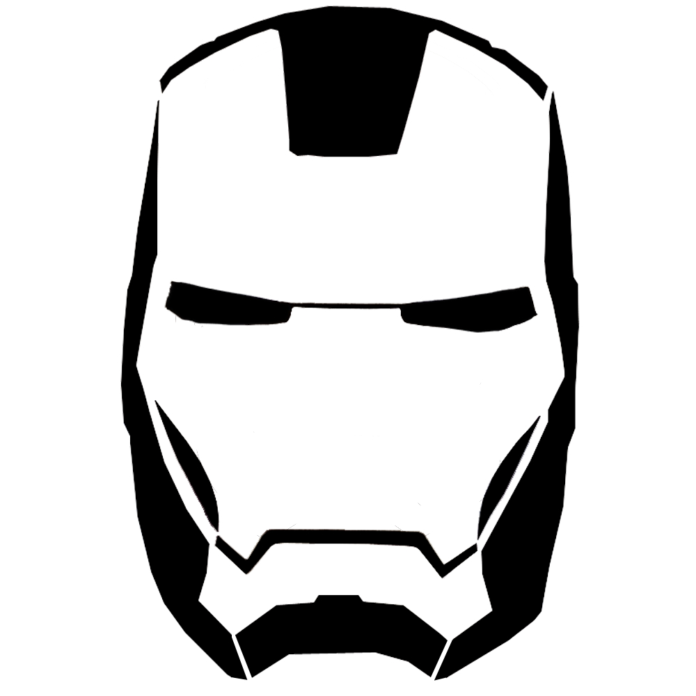 1000x1000 Iron Man Face Drawing Pumpkin Outline Drawing Clipart Panda
