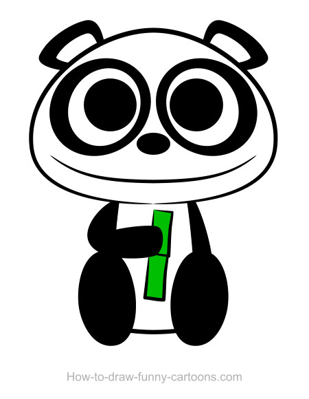 450x580 Panda Drawing (Sketching + Vector)