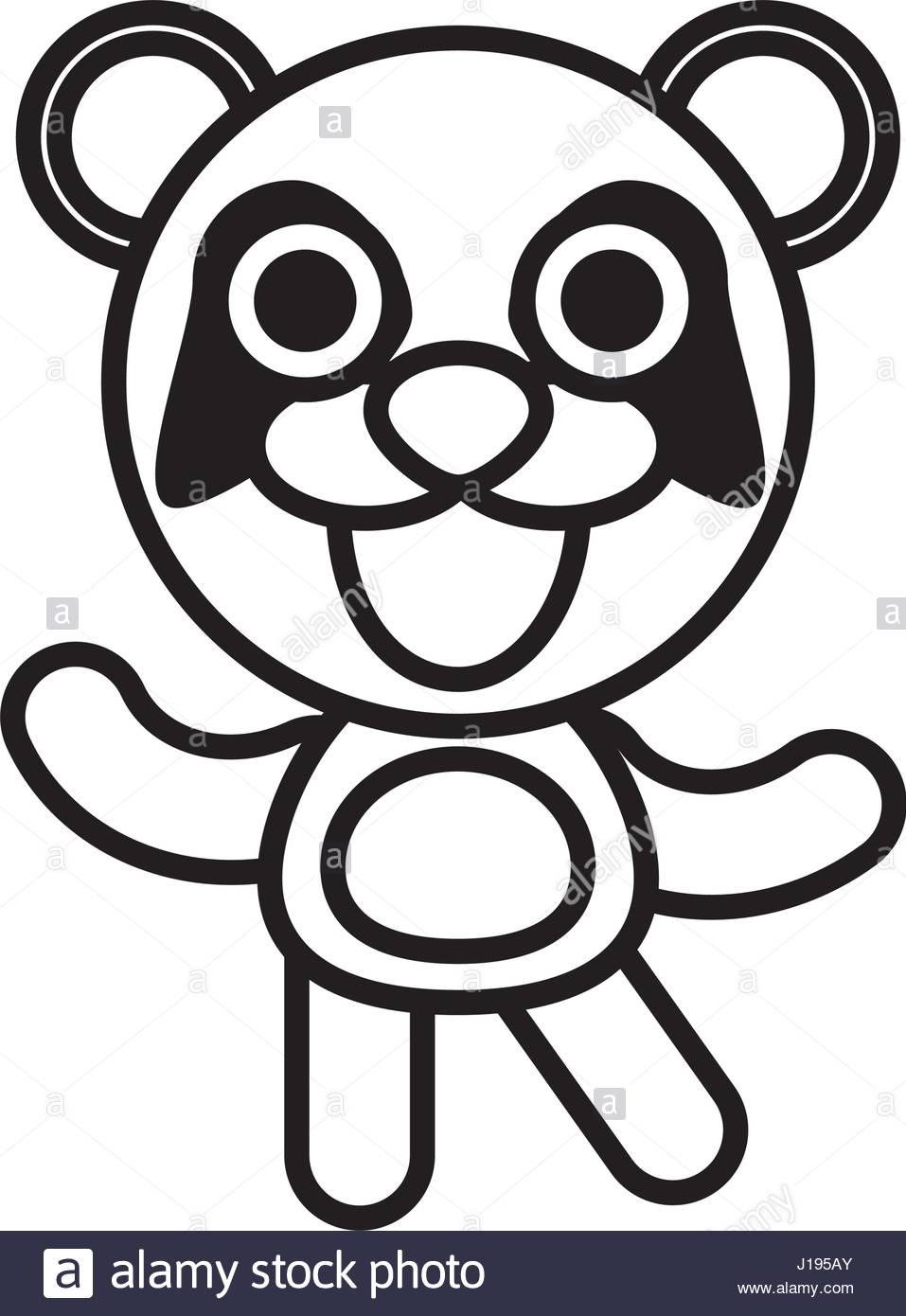 957x1390 Cartoon Panda Animal Outline Stock Vector Art Amp Illustration