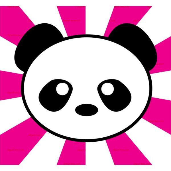600x600 Panda Clipart Face