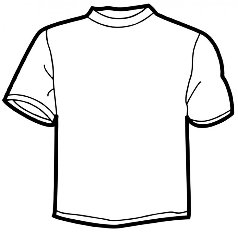 820x798 T Shirt Clip Art Outline Clipart Panda Free Clipart Images