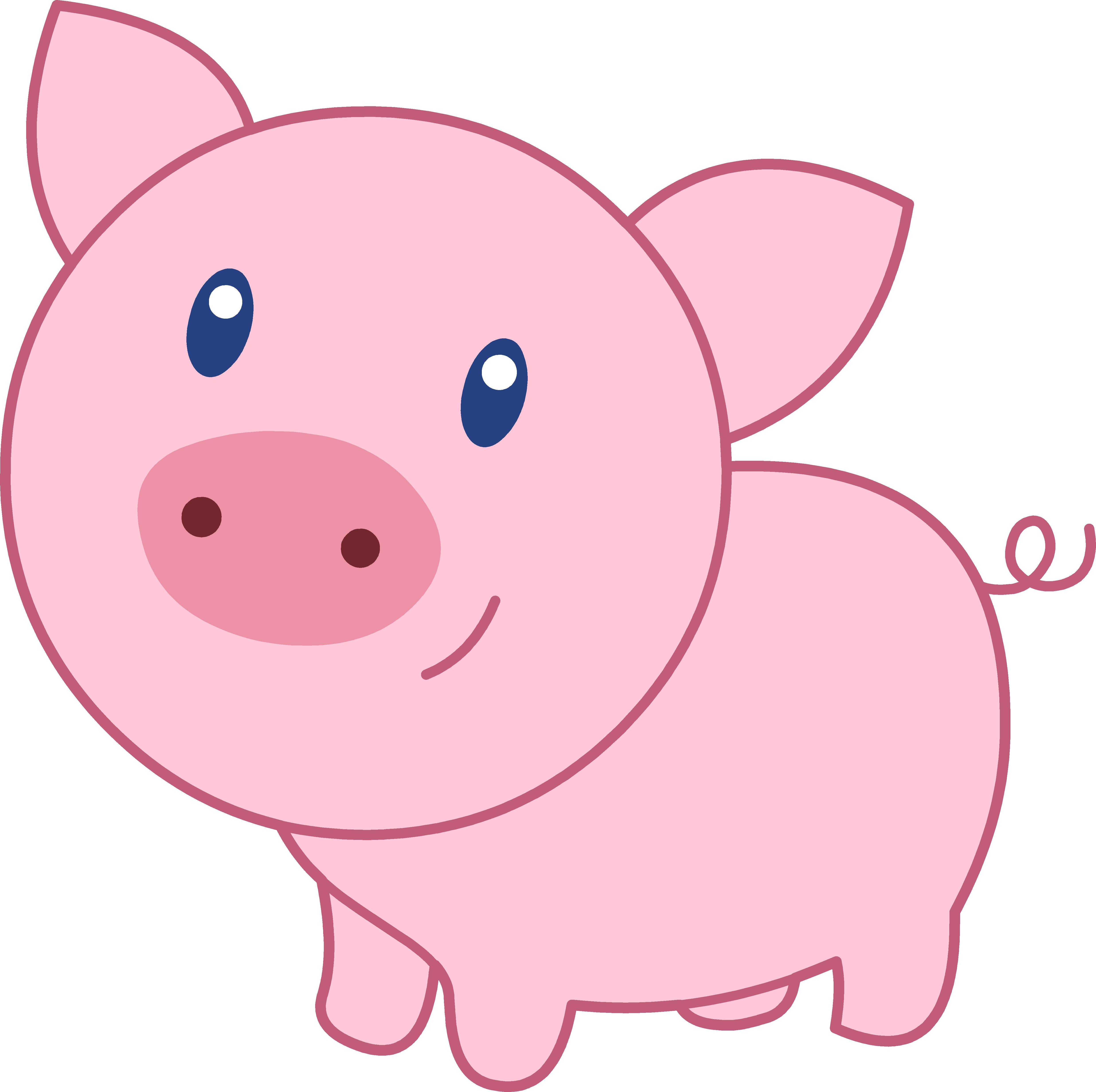 4945x4925 Cute Clipart Baby Pig