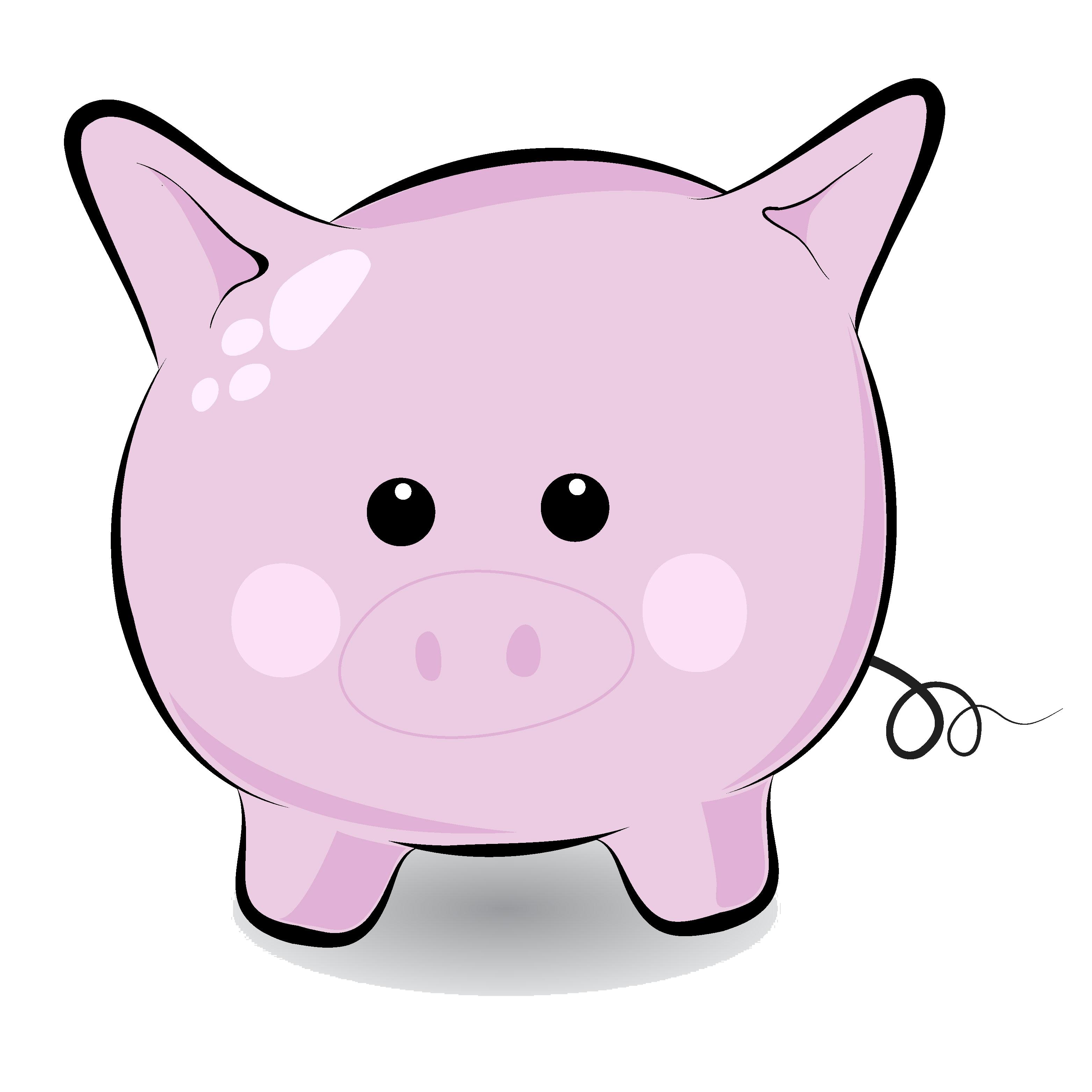 3125x3125 Free Cute Round Pig Clip Art Clipart Panda