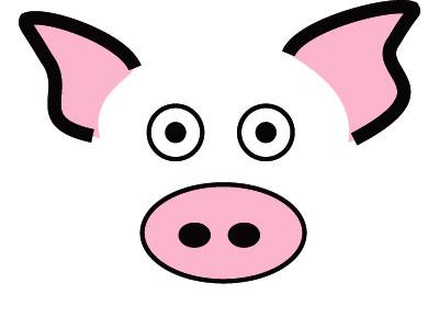 400x289 Head clipart pig