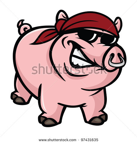 450x470 Mean Pig Clipart