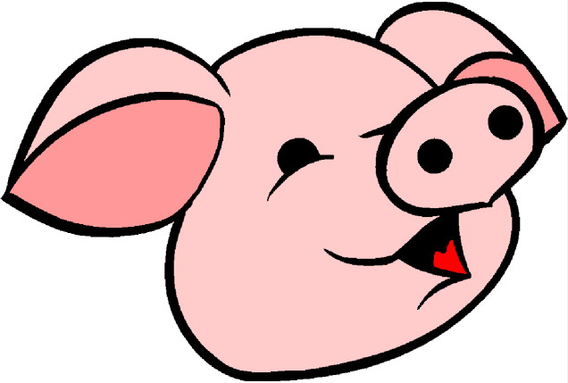 636x429 Pig Clipart