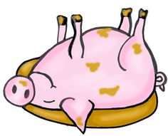 236x191 Pig Rolling In Mud Clipart