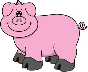 310x254 Pig clipart