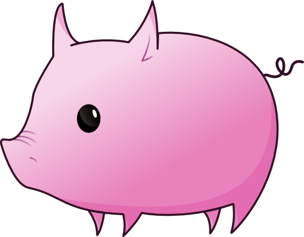 600x469 Pigs Cartoon Pig Clipart