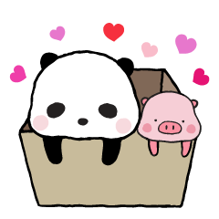 240x240 Sweet Panda amp Honey Pig Part 2 by Ellya – LINE stickers LINE STORE