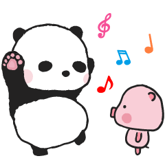 240x240 Sweet Panda amp Honey Pig – LINE stickers LINE STORE