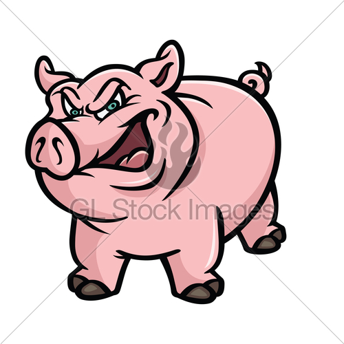 500x500 Cartoon Pig Clipart