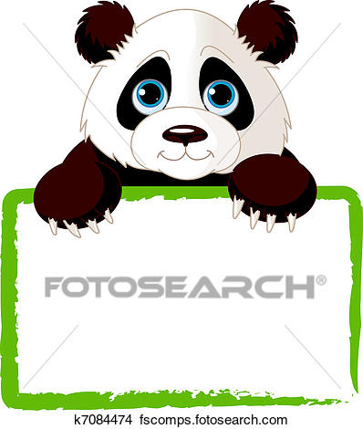 398x470 Clipart Of Cute Panda Card K7084474