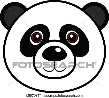 450x404 Clipart Of Cute Panda Vector K5670874