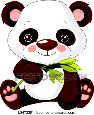 387x470 Clipart of Fun zoo. Panda k8473381