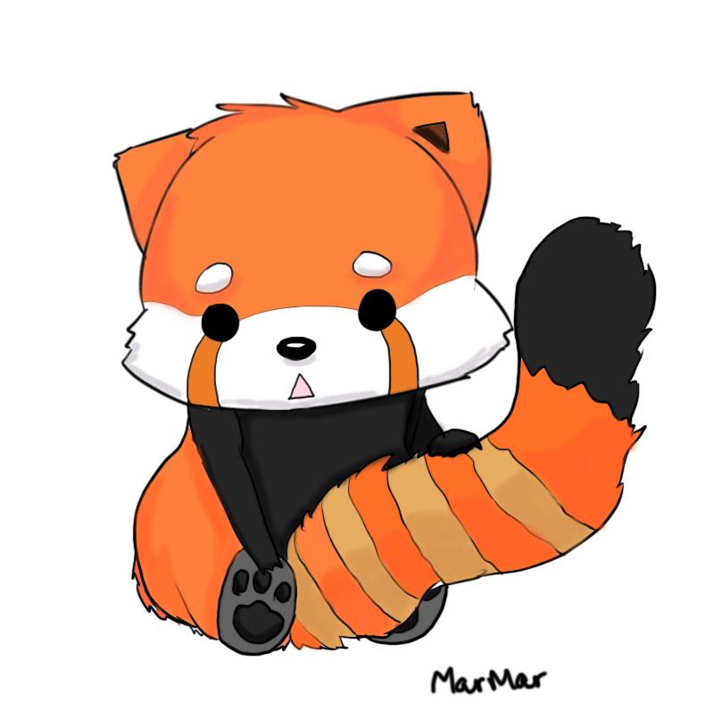 800x787 Drawn Red Panda Cartoon