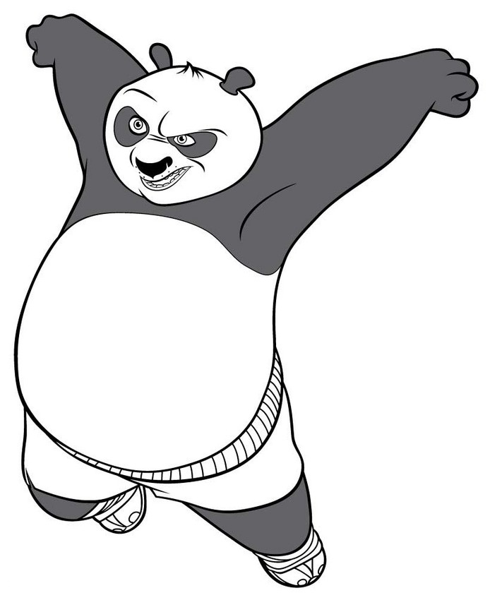 694x850 Free Printable Kung Fu Panda Coloring Pages For Kids