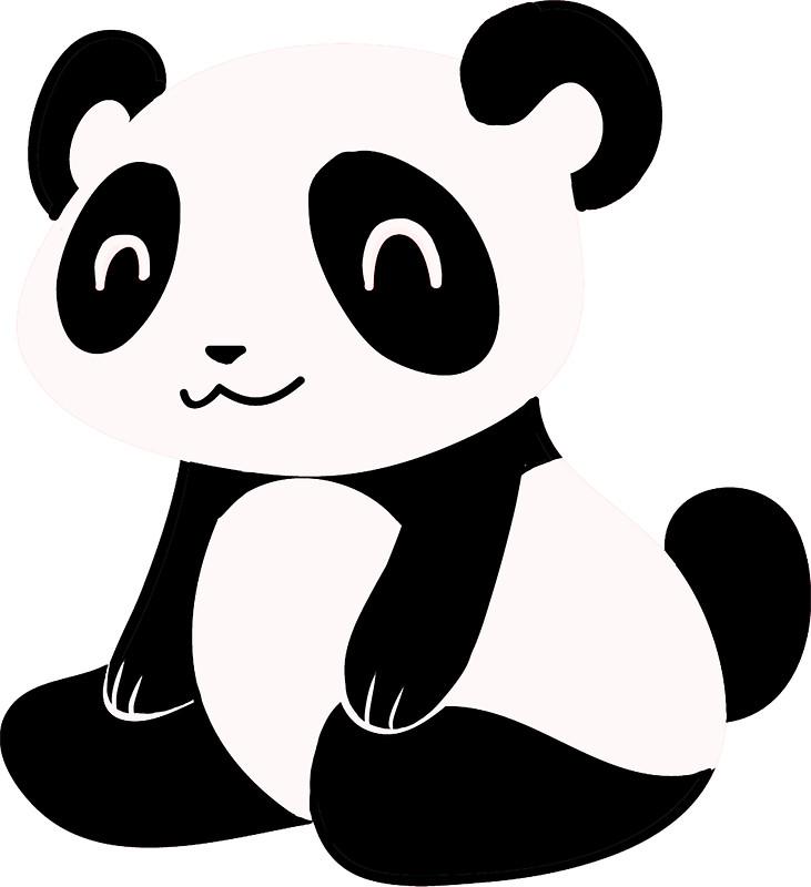 731x800 Happy Cartoon Panda Stickers By Saradaboru Redbubble