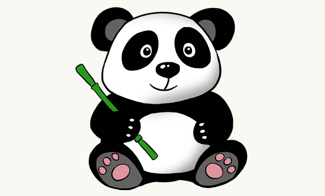 662x400 How To Draw A Cute Cartoon Panda In A Few Easy Steps Easy