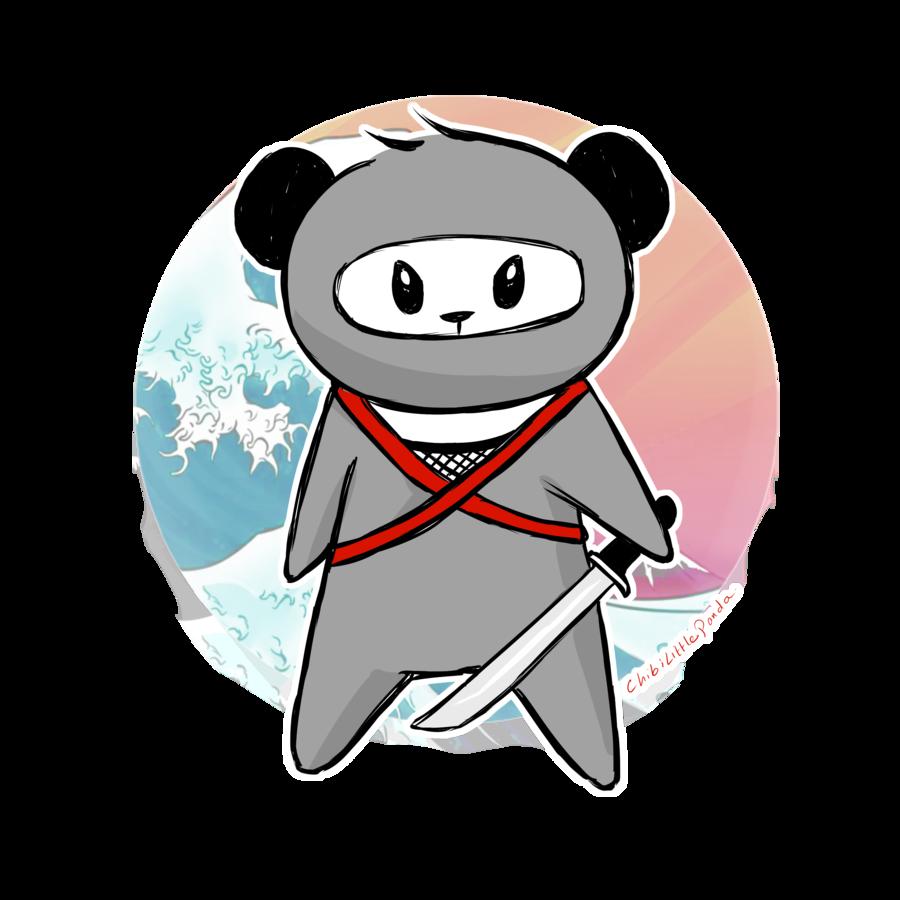 900x900 Ninja Panda By Chibilittlepanda