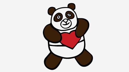 454x255 Top 25 Free Printable Cute Panda Bear Coloring Pages Online