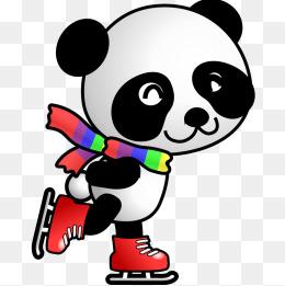 260x261 Cartoon Giant Panda, Hand Painted Panda, Small Panda, Panda