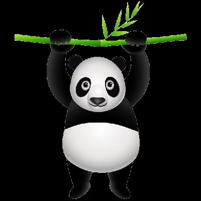 400x400 Cartoon Panda Clipart
