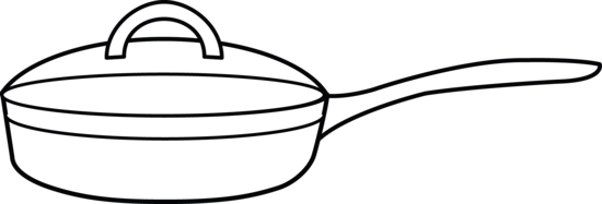 550x187 Frying Pan Coloring Page