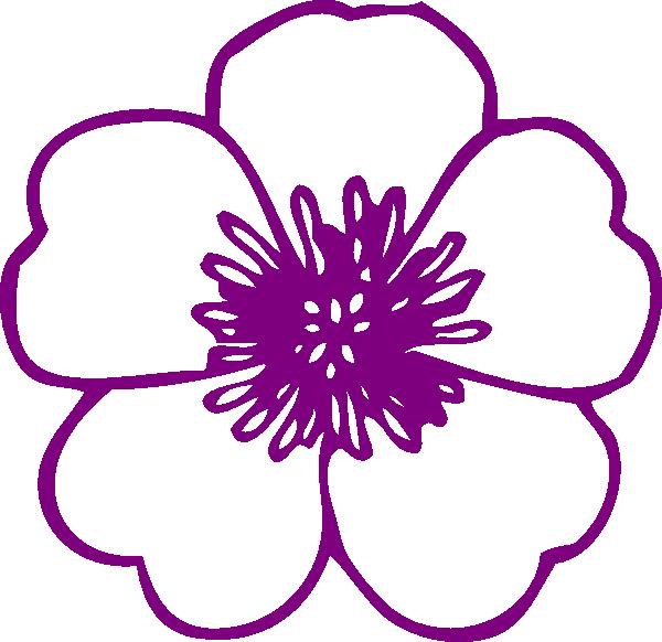 600x582 Clipart Flower Violet