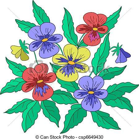 450x452 Pansies Clipart