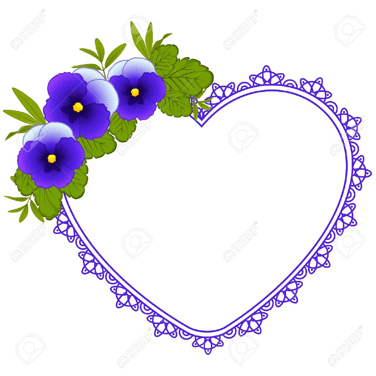 1300x1300 Pansy Clipart Outline