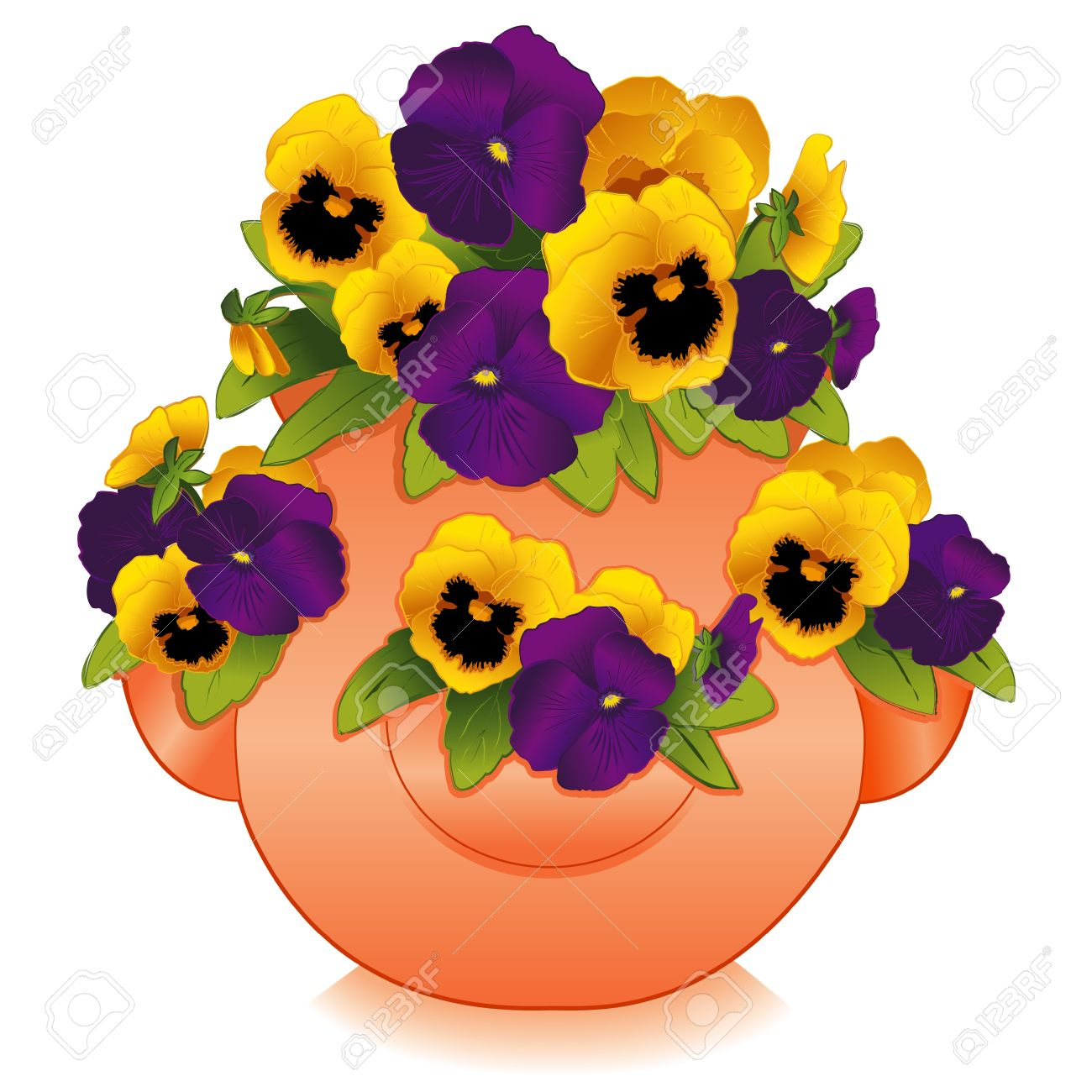 1300x1300 Pansy Clipart Violet Flower