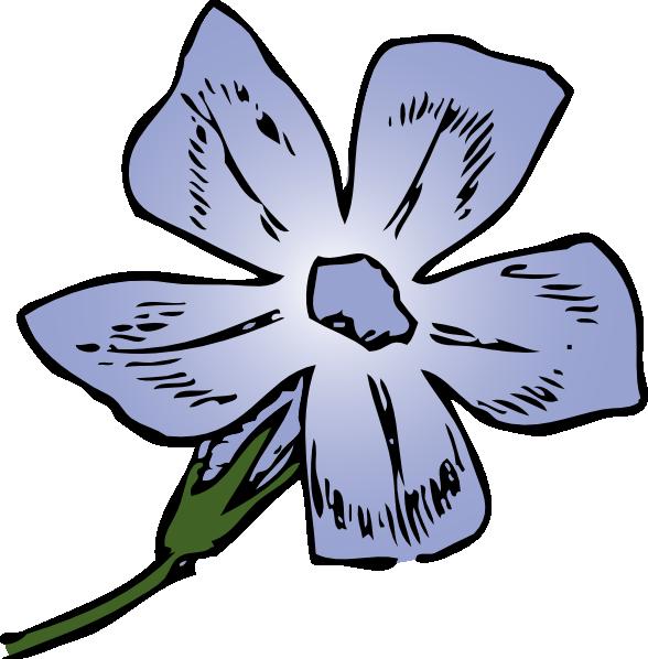 588x598 Purple Flower 6 Clip Art