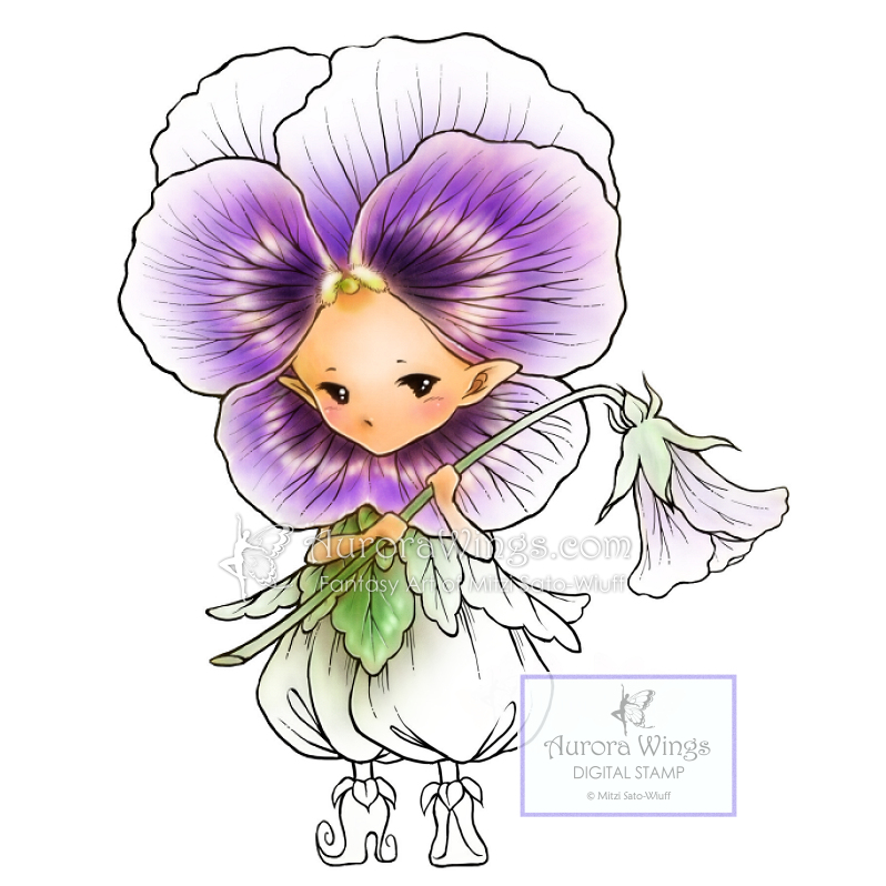 798x798 Aurora Wings Pansy Sprite Digital Stamp Fantasy Art Of Mitzi Sato