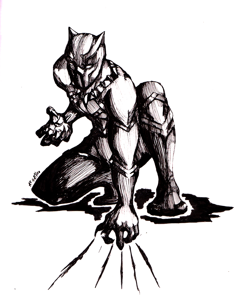 1000x1219 Black Panther By Arianevass