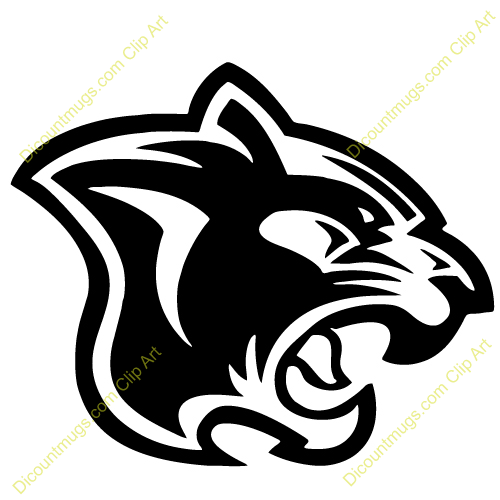 500x500 Cougar Clipart Panther Drawing