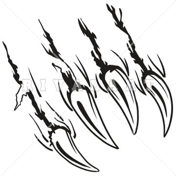 361x361 Panther Claws Clipart
