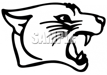 350x246 Panther Clipart Face